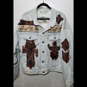 Levi's Denim Jacket With Western/Horse Design